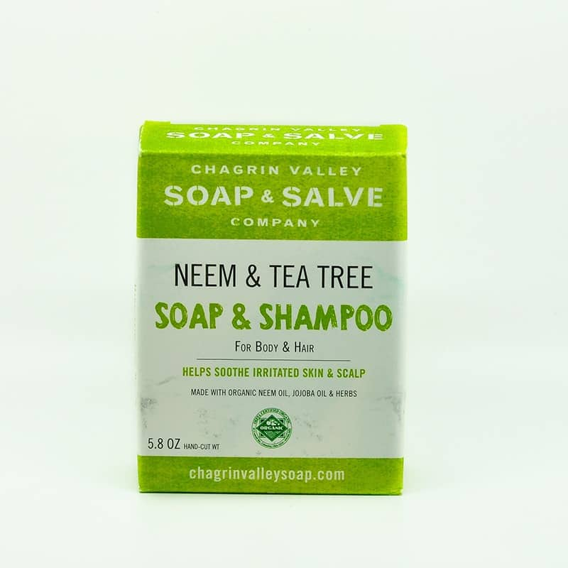 Chagrin Valley Organic Neem & Tea Tree Soap Shampoo Bar 5 8 Oz